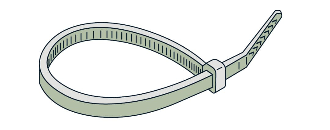 Cable-tie diagram