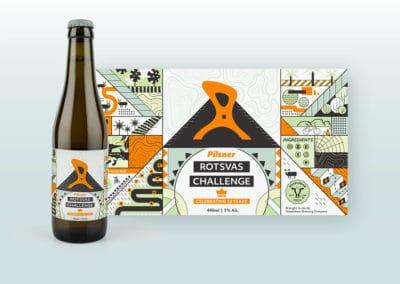Rotsvas Challenge Beer Label Design