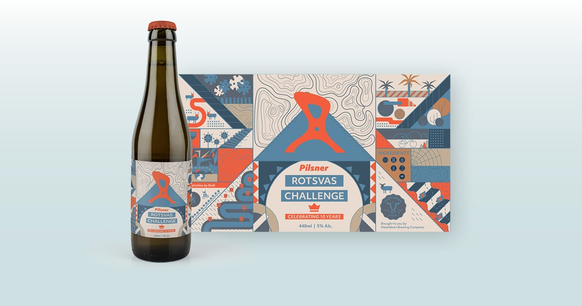 Rotsvas Beer Label Design