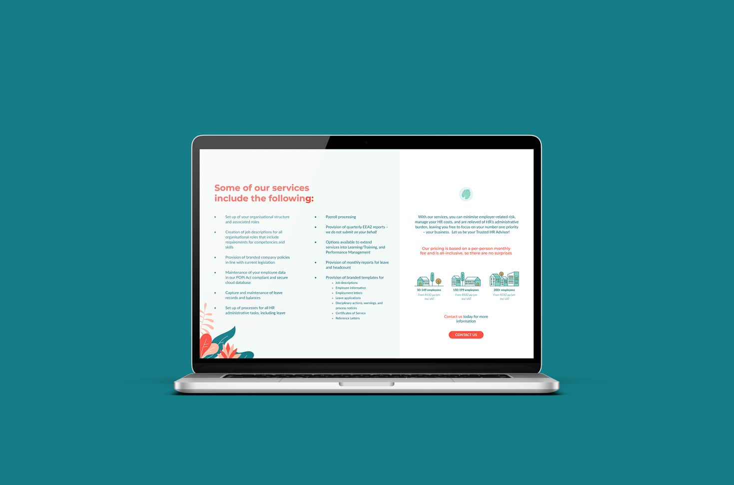 Breezy Consulting Brochure Mockup